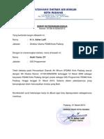Surat Keterangan Kerja Pdam