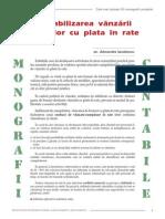 Contabilizarea Vanzarii Bunurilor Cu Plata in Rate