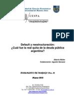 Default y Reestructuración}