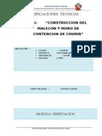 2.-Especificaciones Tecnicas de Estructuras