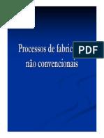 Aula 13. Processos de Fabricação Não Convencionais