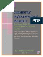 Chemisty Investigatory Project