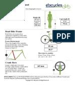Road Bike Size Sheet | eBicycles.com