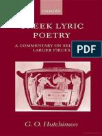 Hutchinson_Greek_Lyric Poetry a Commentar