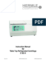Instruction Manual for HERMLE - Table Top Refrigerated Centrifuge Z 323 K