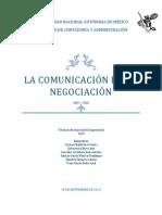 Comunicación en la negociación.