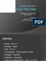 Head Trauma - Case