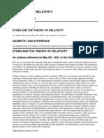 Sidelights on Relativity by Einstein, Albert, 1879-1955