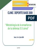Metodologia de La Enseñanza de La Defensa 3-3 Zonal Juan Oliver 2009