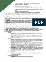 terms for rhetorical strategies test 2
