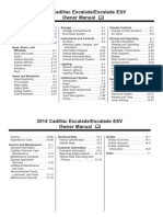 2014 Escalade Owners Manual