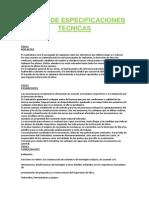 Pliego de Especificaciones Tecnicas Final