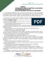 Anunt Admitere Academia Nationala de Informatii Bucuresti 2013