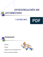 .Curso Investigación de Accidentes
