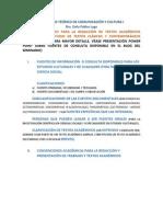 Material de Apoyo Para Elaboración de Trabajos Académicos Derivados de Estudios Culturales