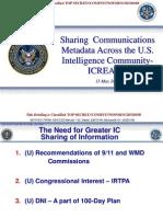 NSA Leaks August 25, ICREACH, CRISSCROSS, PROTON, Ed Snowden 2014 Sharing Communications Metadata Across the US
