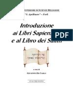 Introduzione Ai Libri Sapienziali