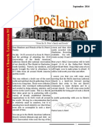 September 2014 Proclaimer