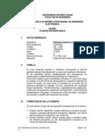 CE 1008 Sistemas Expertos y Robotica Plan2006