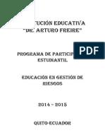 Participacion Estudiantil Gestion en Riesgos. 2015