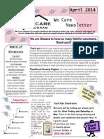 We Care April 2014 Newsletter