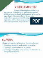 Agua y Bioelementos