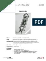 Paul Thek Dossier