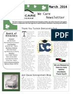We Care March 2014 Newsletter