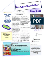 We Care May 2014 Newsletter