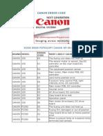 Canon Error Code