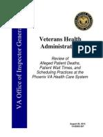 VAOIG Phoenix VA Report