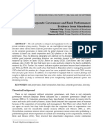 Corporate Governance and Bank Performance