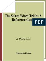 The Salem Witch Trials a Reference Guide