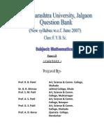 F. Y. B. Sc. (Mathematics) Question Bank-II