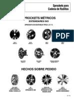 Catalogo de Sprockets para Cadena de Rodillos