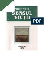 Alfred AdlerSensul Vietii