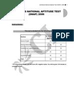 SNAP 2006 Questions