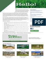 August 2014- BHGRE Bradfield Monthly Newsletter