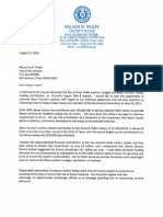 Bexar County letter to city of San Antonio regarding funding for the library (2014)