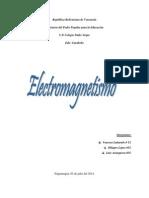 Trabajo de Fisca. Electromagnetismo