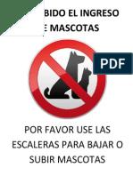 Prohibido Mascotas