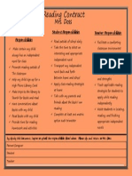 parent and student reading contract