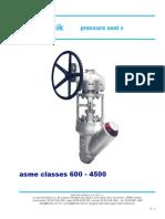 194782385 Pressure Seal Valves