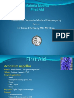 Homeopathy first aid remedies