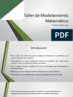 Taller de Modelamiento Matemático