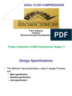 Axial Compressor Design Parameters