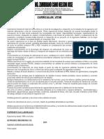 Curriculum Vitae Ing Nelson Zambrano Cano Actualizado 2012