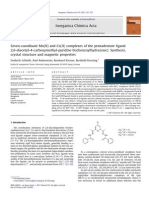 Seven Coordinate Mn(II) and Co(II) Complexes of the Pentadentate Ligand 2,6 Diacetyl 4 Carboxymethyl Pyridine Bis(Benzoylhydrazone) Synthesis, Crystal Structure and Magnetic Properties 2011 Inorganica Chimica Acta