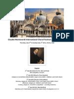 Claudio Monteverdi Choral Competition 2015 Rules ENGLISH