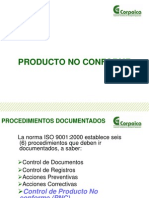 PresentacinProcedimientodecontroldeproductonoconformeSI P 05sept9